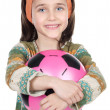 Girl whit ball — Stock Photo
