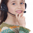 Girl with headset — Stock Photo #9436145