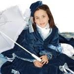 dziewczyna z antykami ubrania — Zdjęcie stockowe