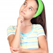 Pensive little girl with blue eyes — Stock Photo #9436168
