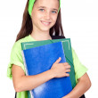 Adorable student girl with blue eyes — Stock Photo #9436193