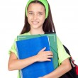 Adorable student girl with blue eyes — Stock Photo #9436196