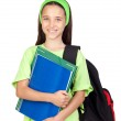 Adorable student girl with blue eyes — Stock Photo #9436197