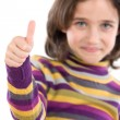 Adorable girl saying OK — Stock Photo
