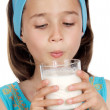 Girl drinking milk — Stock Photo #9436412