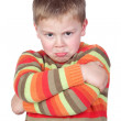 Stock Photo: Angry child with crossed arm