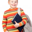 Student child with books - Stock Photo