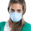 Girl infected with influenza A — Stock Photo