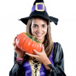 Pretty girl with witch costume — Stock Photo #9436842