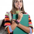 Student girl thinking — Stock Photo
