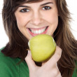 Royalty-Free Stock Photo: Girl eating a apple