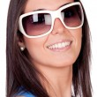 Foto Stock: Sexy girl with sunglasses