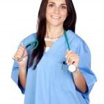 Attractive brunette doctor — Stock Photo