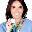 Attractive brunette doctor — Stock Photo #9437360