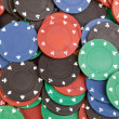 Many poker chips — Stock Photo