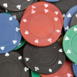 Many poker chips — Stock Photo #9437740