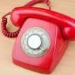 Red classic telephone — Stock Photo