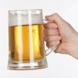 Beer in a glass jar — Stock Photo