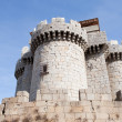 Great gray stone castle - 图库照片