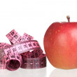 Apple and measure tape — Stockfoto #9437893