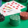 Stock Photo: Poker cards with straight flush