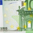 One bill of one hundred euros - Stock Photo