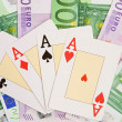 Poker of four aces - Stock Photo