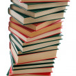 Stock Photo: Tower of books on white background