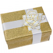 Beautiful golden gift — Stock Photo #9438123