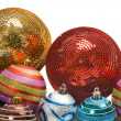 Different balls of christmas — Stock Photo #9438189