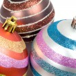 Three balls of christmas - Stock Photo