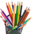 Many pencils of different colors — Stock Photo #9438228