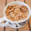 Breakfast bowl of cereal and milk — Stock Photo