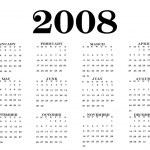 2008 Calendar — Stock Photo