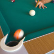 Stock Photo: Playing billiards