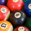 Some billiard balls — Stock Photo