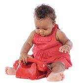 婴儿用红色手机 — 图库照片