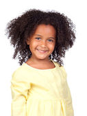 Adorable african little girl with beautiful hairstyle — Stock Photo