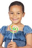 Girl with lollipop — Stock Photo