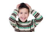 Funny boy surprised — Stock Photo