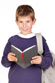 Student little child with blond hair — Stock Photo