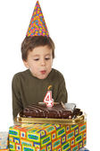 Adorable kid celebrating his birthday — Stock Photo
