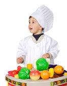Adorable future cook — Stock Photo