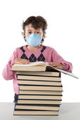 Student child infected with influenza A — Stock Photo