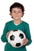 Adorable boy with a ball — Stock Photo