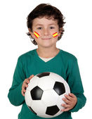 Adorable child follower of Spanish Selection — Stock Photo