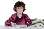 Adorable boy studying — Stock Photo