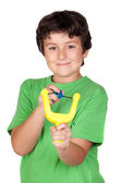 Adorable child with a slingshot — Stock Photo