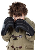 Adorable boy with boxing gloves — Stock Photo