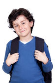 Beautiful student child with backpack — Stock Photo